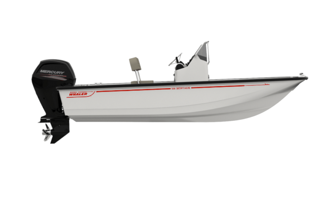 a rendering of the 150 Montauk by Boston Whaler