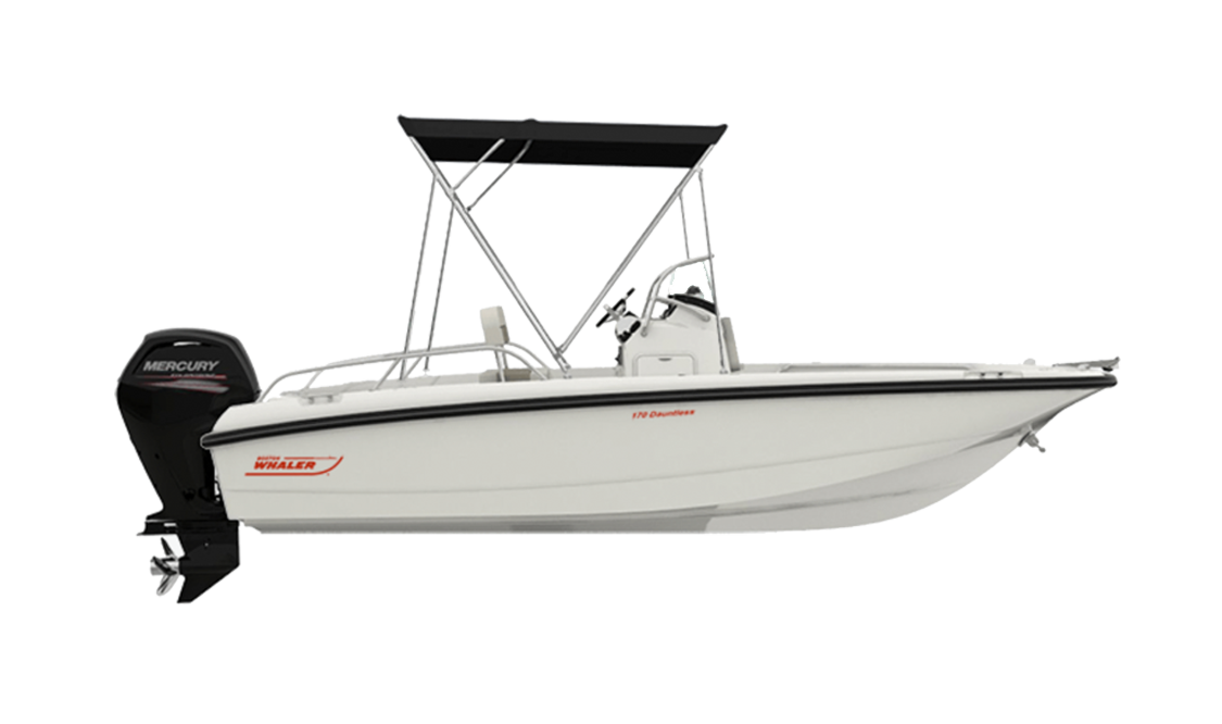 a Dauntless boat by Boston Whaler