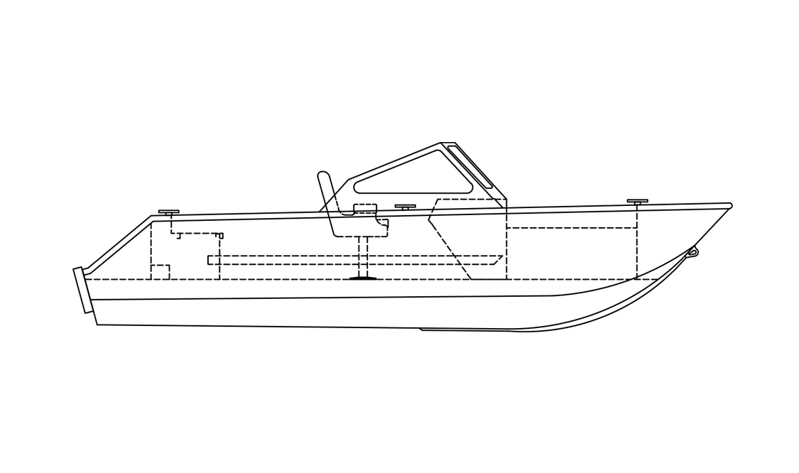a black and white rendering of a 2020 stanley islander boat for Gordon Bay Marine.