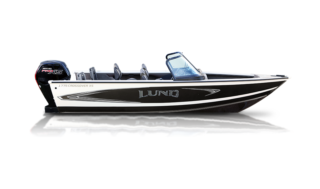 a crossover XS sport boat by Lund sold at Gordon Bay Marine at Muskoka, Ontario.