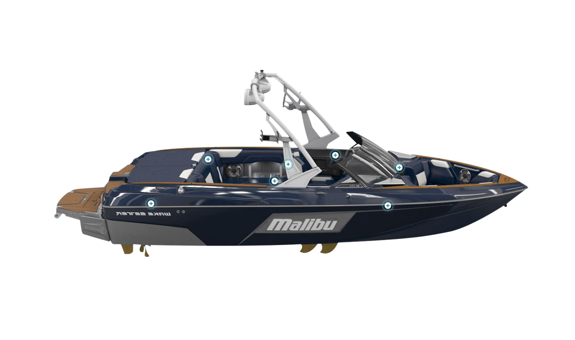 a malibu vtx wakeboat sold at Gordon Bay Marine