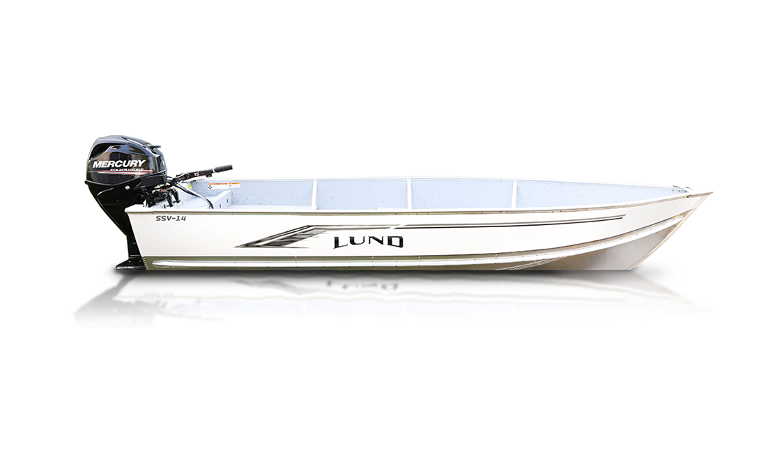 a SSV Fishboat made by Lund, sold at Gordon Bay Marine for fishing and utility.