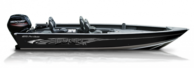 a lund pro-guide fishing aluminum boat