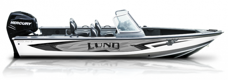 a lund 1875 pro v fishing boat sold at gordon bay marine in muskoka and parry sound
