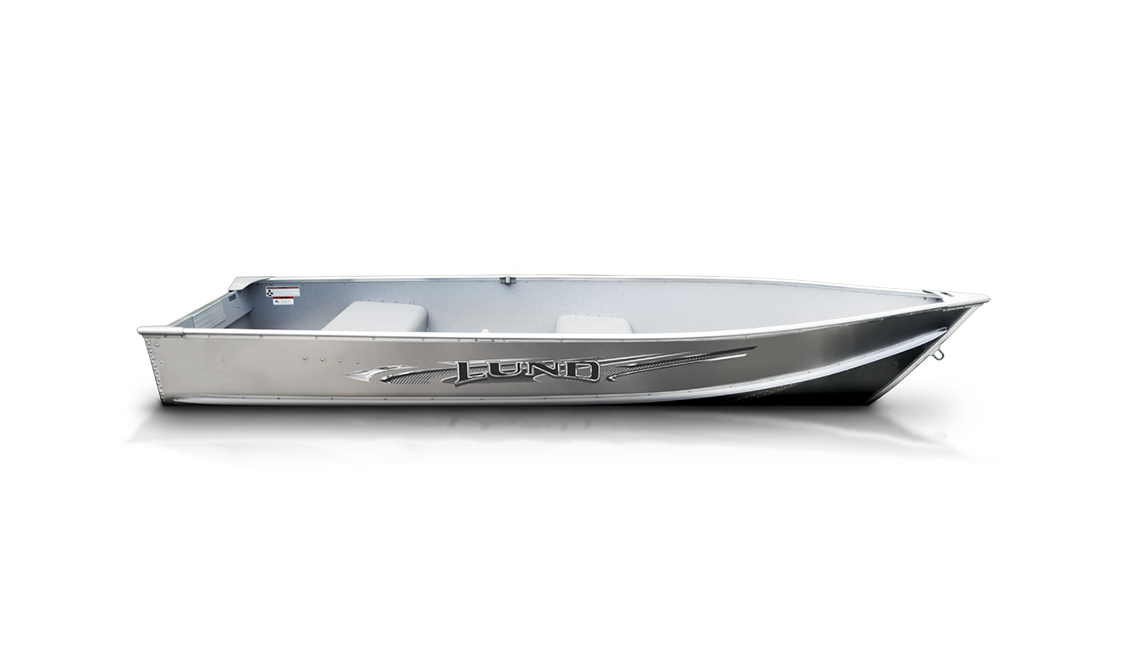 a Lund A-series fishing aluminum boat sold by Gordon Bay Marine