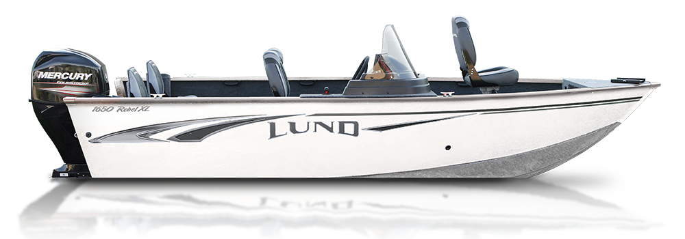 a rebel xl fishing boat by Lund