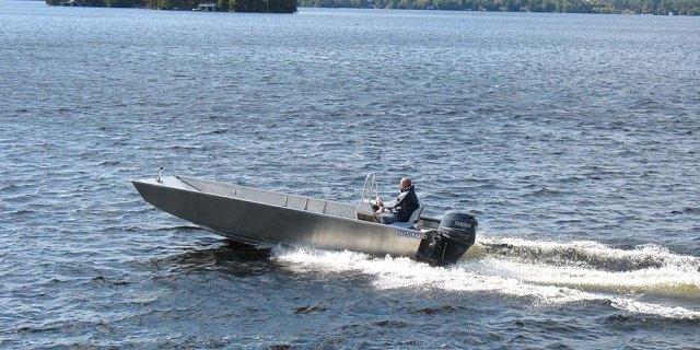a predator aluminum boat by Stanley boats