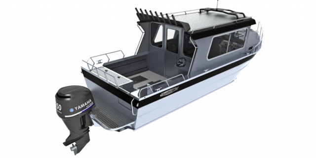 a rendering of a thunderjet offshore boat sold at Gordon Bay Marine in Muskoka Ontario.