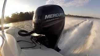 a mercury marine 90 elpt 4s outboard engine for boating sold at Gordon Bay Marine.