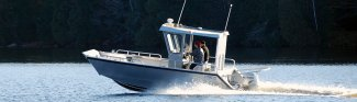 a Stanley 22 Pulscraft aluminum boat sold at Gordon Bay Marine.